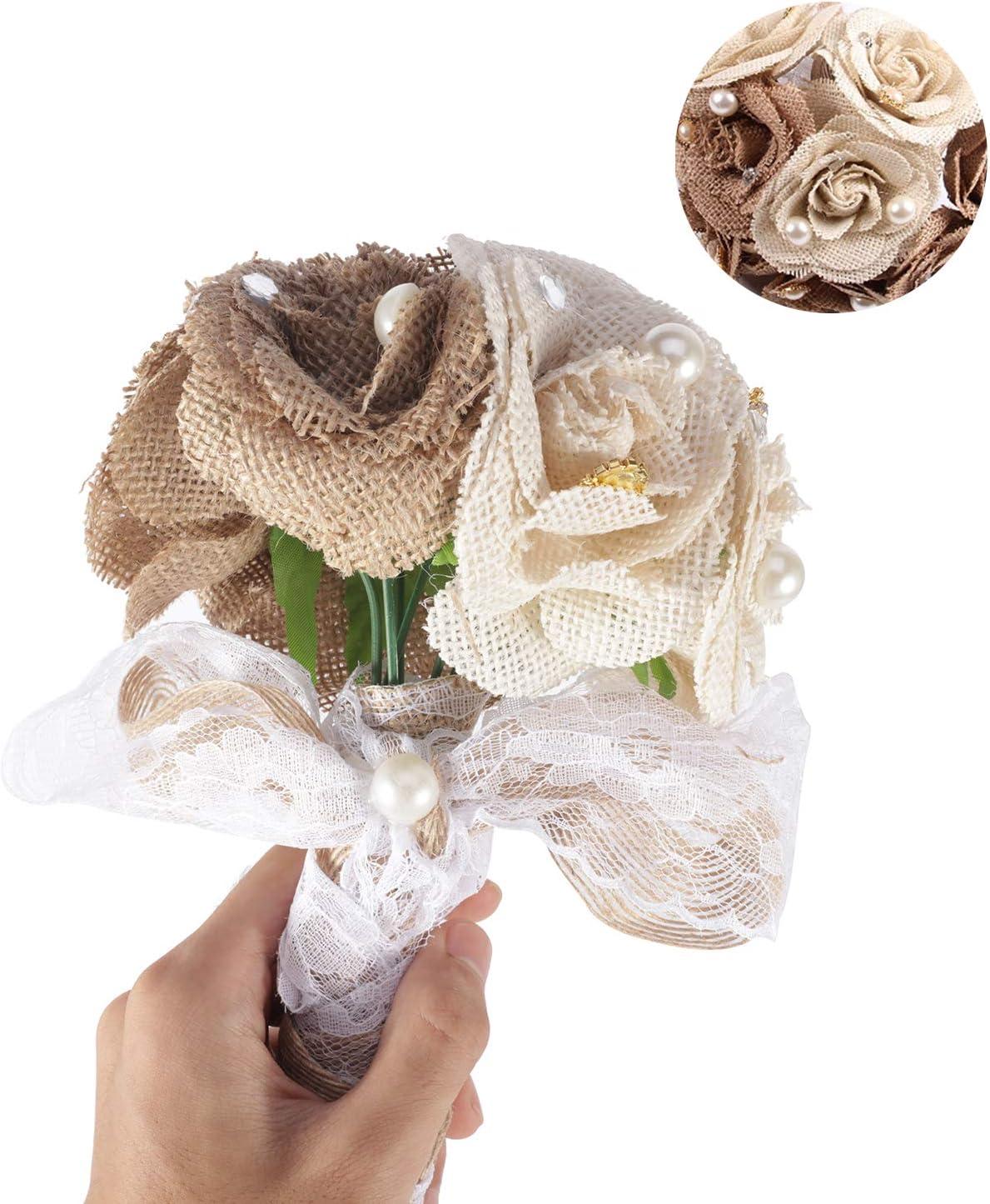 Bouquet Sposa Juta.Gofypel Wedding Bouquet Di Fiori Bouquet Sposa Iuta Con Pizzo E