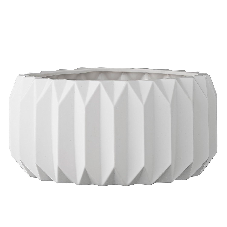 Grau 8 Inch x 6 Inch dunkelgrau Bloomingville Blumentopf Keramik geriffelt rund