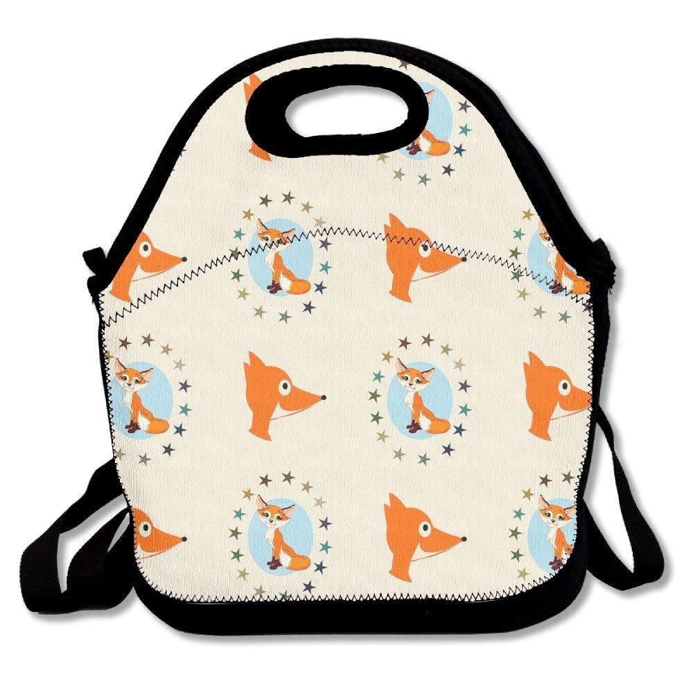 ccd21f27a01c Toteランチトートバッグ かわいいフォックス動物Handyポータブルジッパー ...