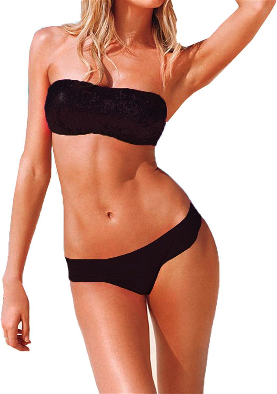 Italily Costume da Bagno Bikini con Paillettes con Paillettes Bikini con Paillettes Divise