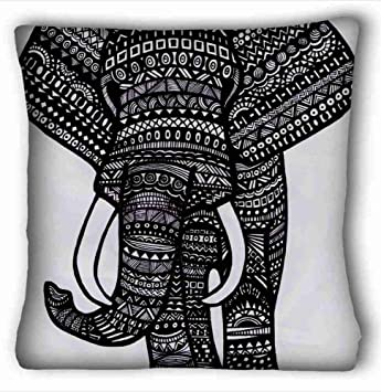 Soft Pillow Case Cover Tribal Elephant Wallpaper Cushion One Sides Printed
