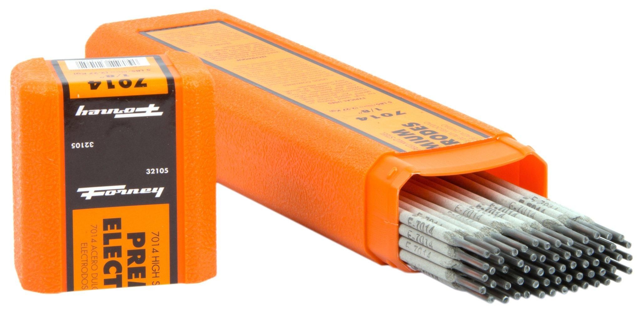 Forney 32105 E7014 Welding Rod, 1/8-Inch, 5-Pound