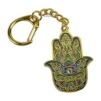 Cexin Fengshui Buda Mano de Fátima Amuleto Llavero con Hilo ...
