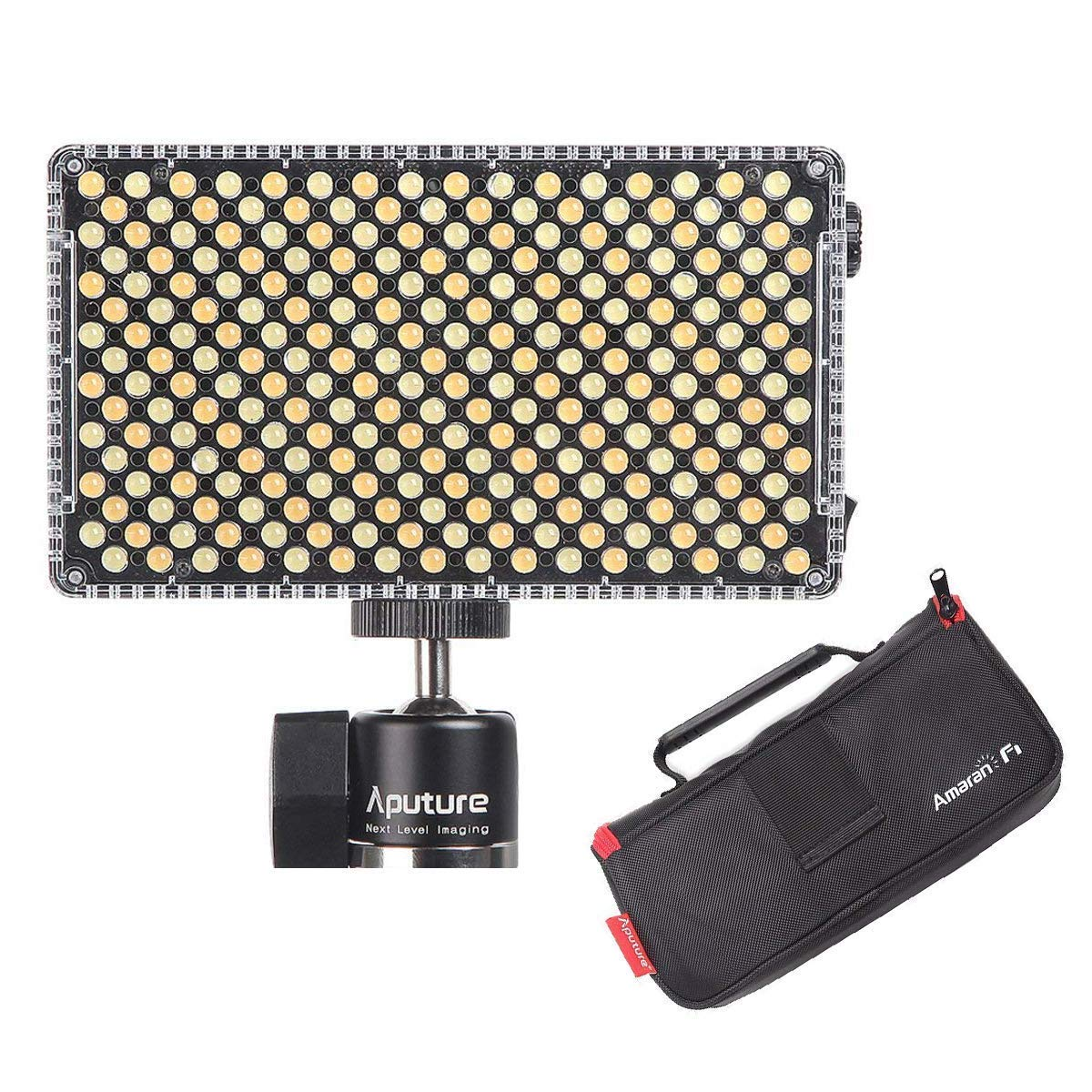 Aputure AL-F7, Aputure H198 Upgrade Ver 256 LED Bi-Color Dimmable Led Video Light, CRI95+ TLCI95+, 3200-9500K, Stepless Brightness, Multiple Power Supply Methods, Lightweight with PERGEAR Cloth by Aputure