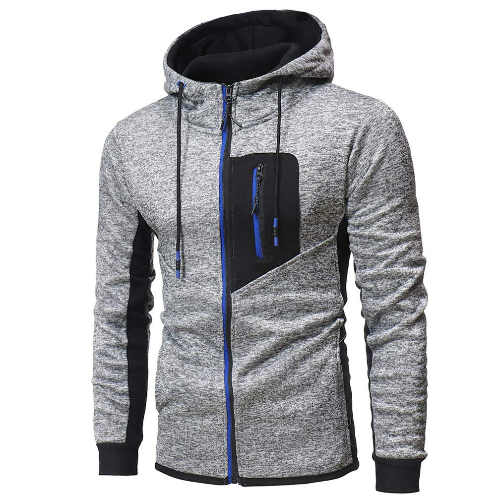 Amazon.com: 2018 Mens Autumn Winter Zip Casual Long Sleeve Slim Pocket Fit Hoodies Jacket Coat Clearance: Clothing
