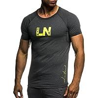 Leif Nelson Camiseta para Hombre con Cuello Redondo