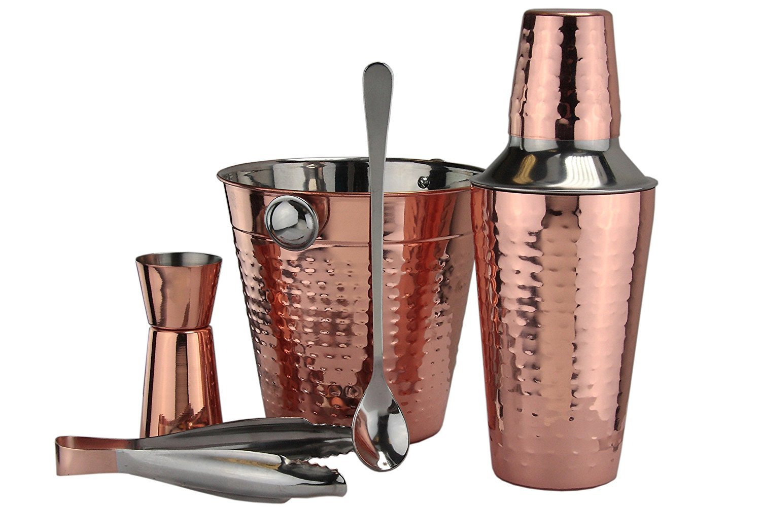 Apollo 5-Piece Stainless Steel and Copper Cocktail Set, Multi-Colour 3310