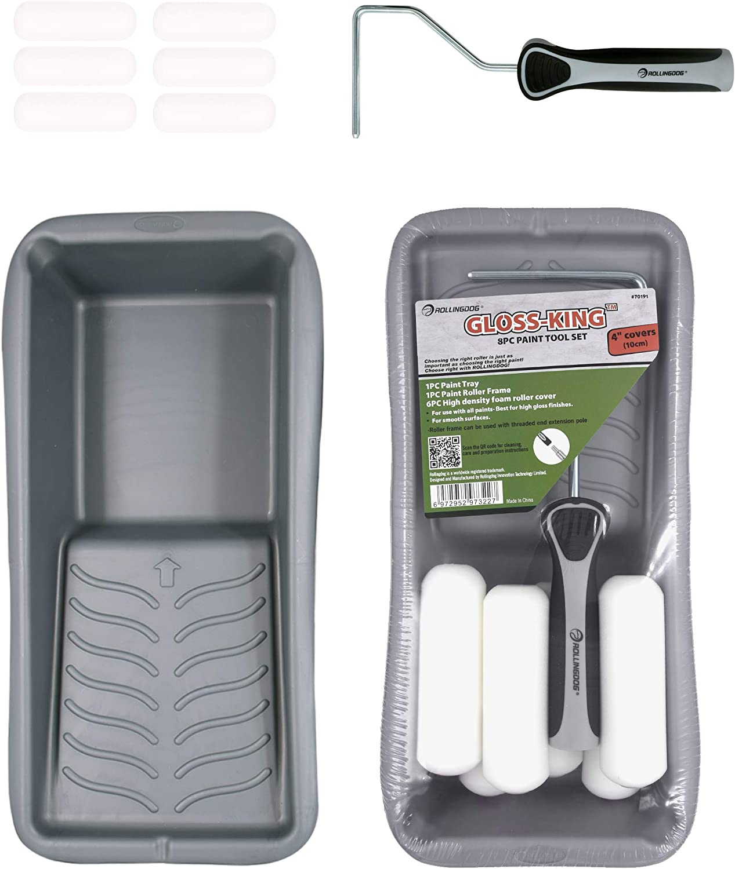ROLLINGDOG 8PC Paint Tool Set Including 4