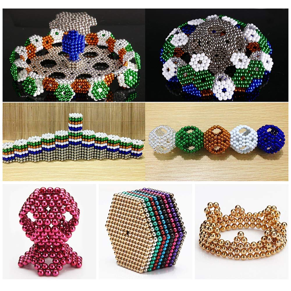 Magnetic Balls Sculpture Toy Multicolored