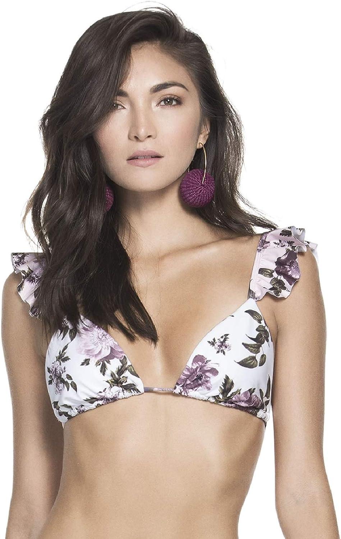 AGUA BENDITA Women's Rosie Apple Blossom Bikini Top