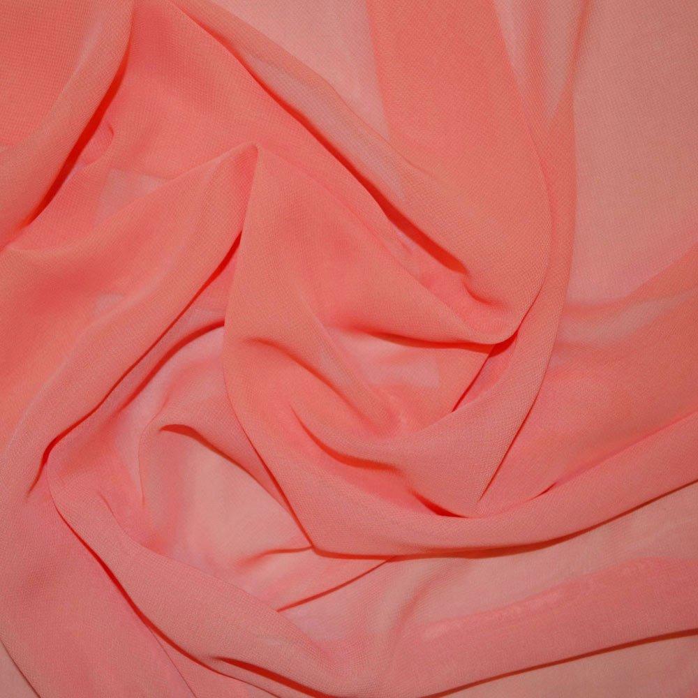 Peach Extra Wide Chiffon Fabric (JS) SKU003855