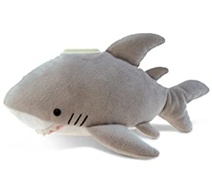 Puzzled Gray Shark Huggie Coin Bank Plush, 8.5 Inch Collectible Decorative Stuffed Animal Soft Fun & Educational Squishes Take A Long Pillow Cushy Doll Ocean Life Themed Kids Toddlers Toy & Games
