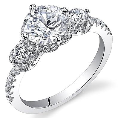 29e5ec091d5 Revoni - Bague de fiançailles Femme - Argent 925 1000 - Diamant de culture