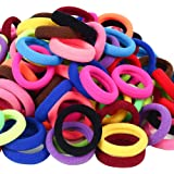 120 Pcs Baby Hair Ties, Cotton Toddler Hair Ties for Girls and Kids, Multicolor Small Seamless Hair Bands Elastic…