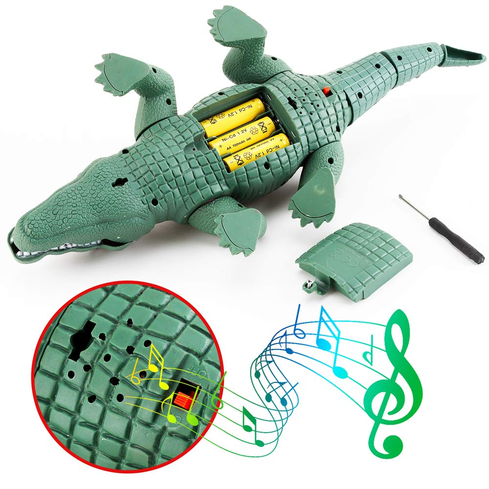 Liberty Imports Crocodile Toy Battery Operated 16'' Alligator with Moving Jaws, Lights and Realistic Sound by Liberty Imports (Image #4)