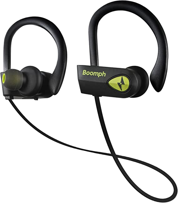 Amazon Com Boomph Bluetooth Headphones Best Wireless Sports Earphones W Mic Ipx7 Waterproof Hd Stereo Sweatproof Earbuds For Gym Running Workout 8 Hour Battery Noise Cancelling Headsets