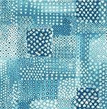 A-Street Prints 1014-001862 Flower Power Patchwork Wallpaper, Indigo