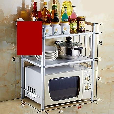 Chuan Han Cocina Microondas Estante Estante Estante Estante ...