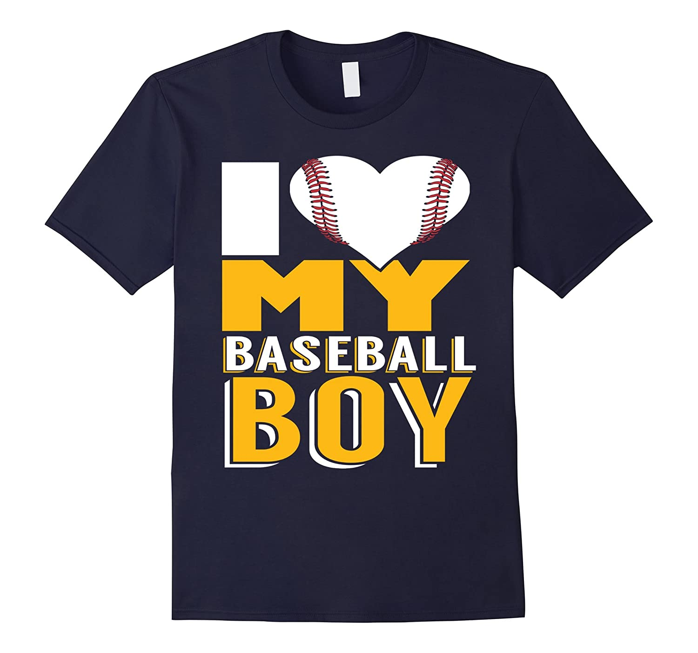 Mothers Day T-Shirt Gift - I Love My Baseball Boy-CD