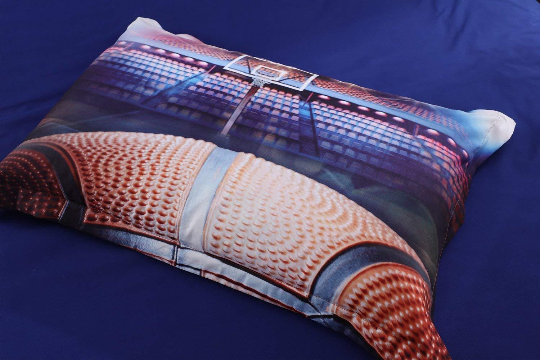 AMOR & AMORE 3D Basketball Sports Ball Bedding Boys Comforter Set, 3pc Microfiber Men Teen Boys Kids Sports Bedding Set with Pillowcases (Full Size)