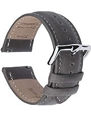 B&E Schnellverschluß Uhrenarmbänder - Leder Armbänder für Herren und Damen im eleganten Stil für traditionelle und intelligente Armbanduhren