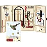 Bau- & Konstruktionsspielzeug-Sets Kinderwerkzeug Anleitung Kinder Werkzeugkasten Laubsäge-Set 20-tlg