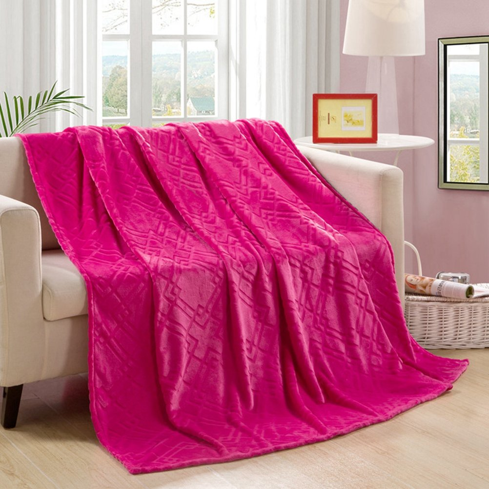 Jacquard Floral Flannel Bed Blanket LivebyCare Extra Soft Warm Plush Easy Care Thicken Fluffy Bedding Blankets For Girl's Room 47*79 inches