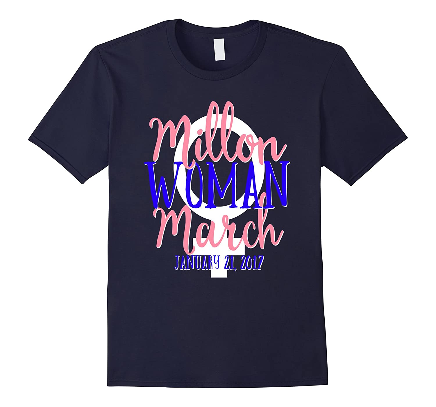 Million Women March Shirt MWM Nasty DC Feminist Pink Blue-Art