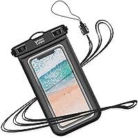YOSH wasserdichte Handyhülle Urlaub Zubehör universal staubdichte Tasche für iPhone X/8/7/6/6s+ für Samsung S9/S8/S7/S6/S5/A5, Huawei, Xiaomi, Handys bis zu 6.1 Zoll, für tauchen Kanu, Wassersport