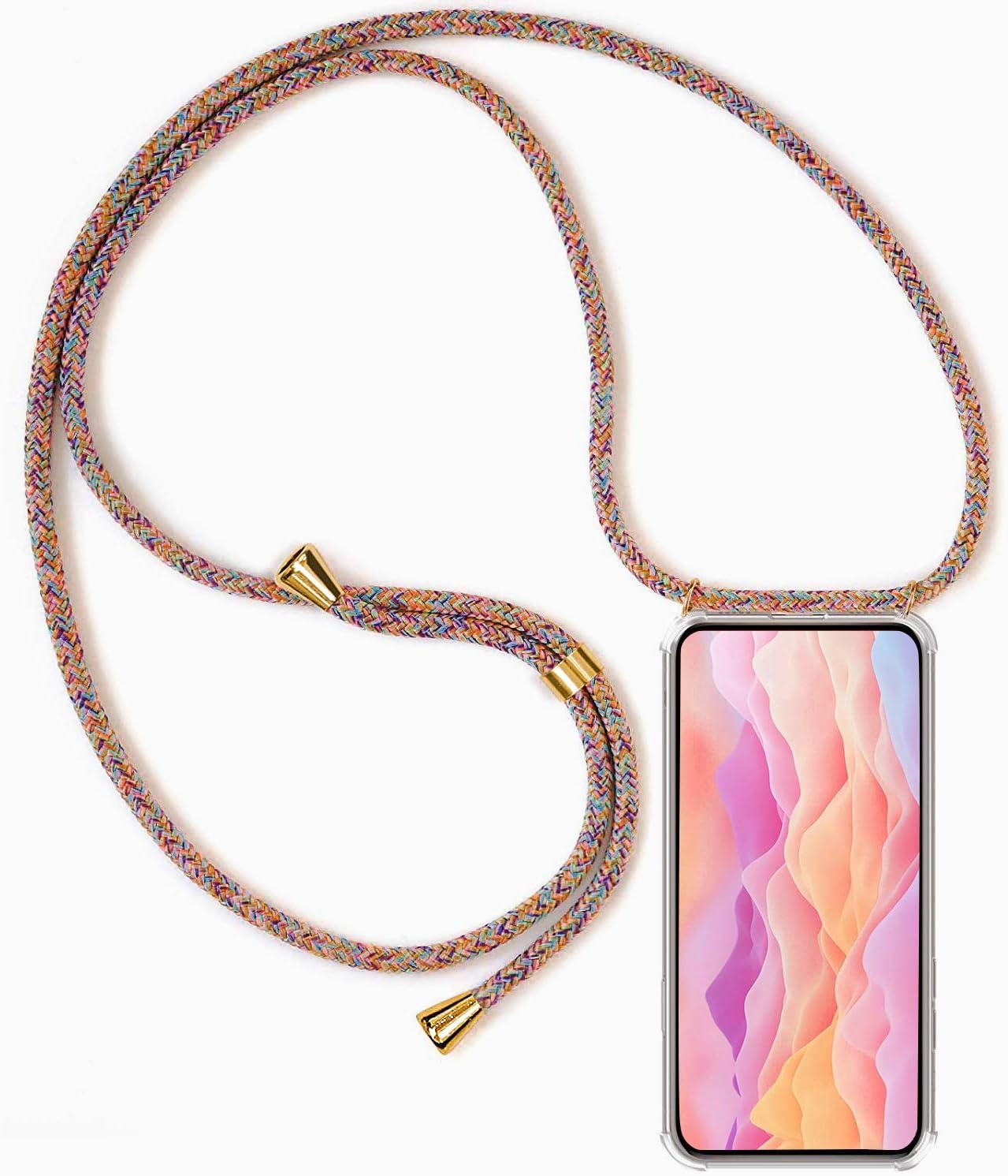 Xiaomi Mi 8 Carcasa Transparente TPU Suave Silicona Case con Correa Colgante Ajustable Collar Correa de Cuello Cadena Cord/ón Anti-Choque Funda para Xiaomi Mi 8 con Cuerda Blanco