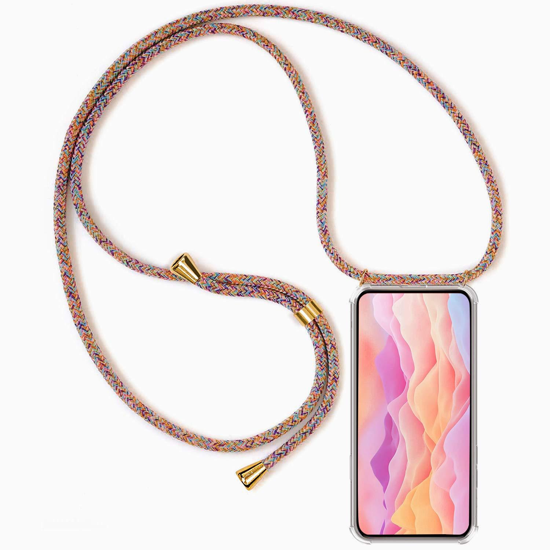 2ndSpring Funda con Cuerda Compatible con Samsung Galaxy Note 10 Plus,Colgante Collar Correa de Cuello Cadena Cord/ón,Negro