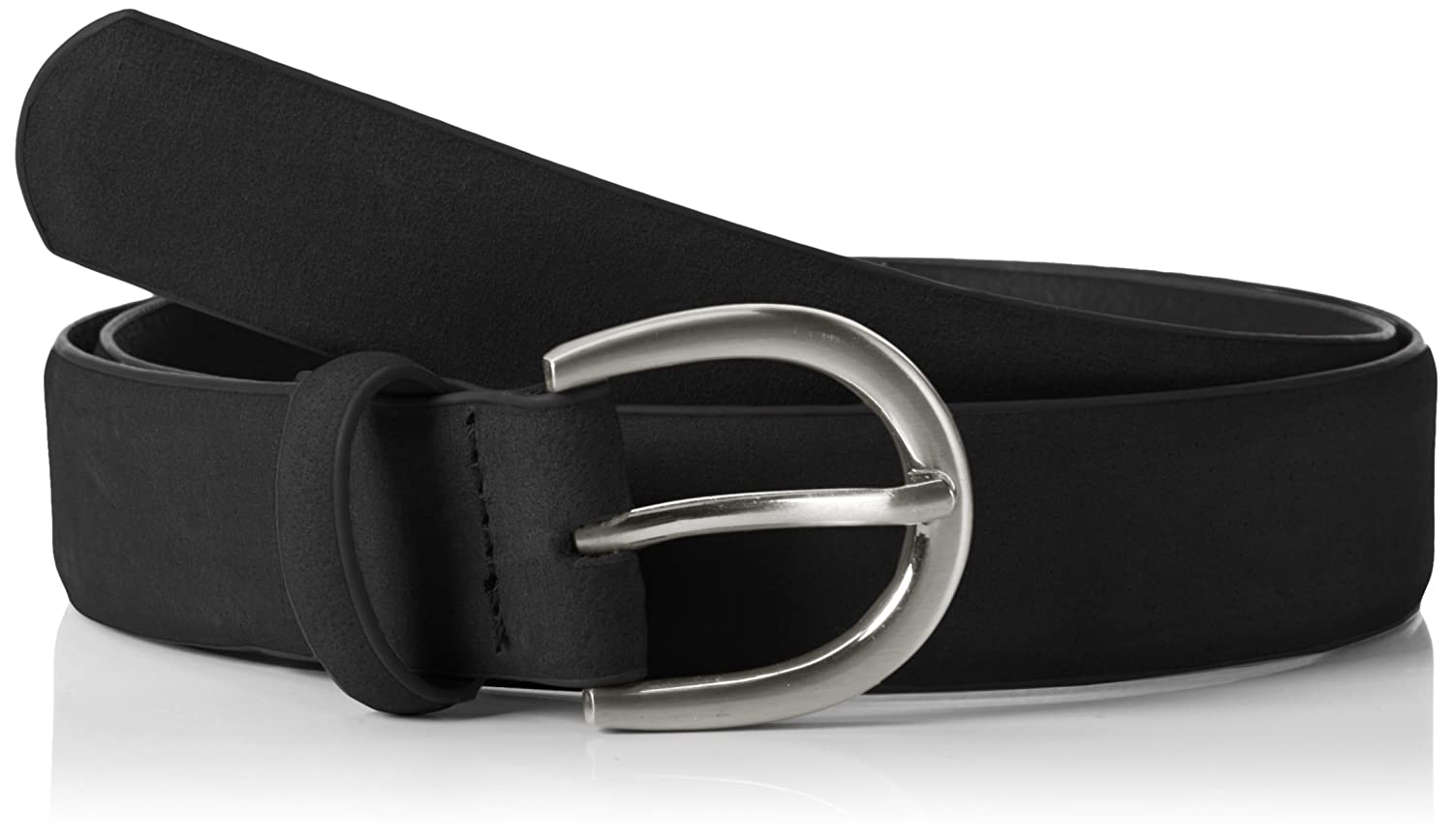PIECES Pcfamous Leather Jeans Belt Noos, Cinturón para Mujer