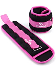Fragraim Ankle/Wrist Weights (1 Pair) for Women, Men and Kids - Strength Training Leg/Arm Weight Set with Adjustable Strap for Jogging, Gymnastics, Aerobics, Physical Therapy (from1lb to 10lbs Pair)