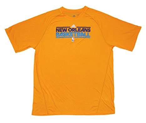 85e7df2be66d6 New Orleans Hornets Team Issued Short Sleeve adidas ClimaLite ...