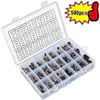 SunTop 500pcs Kit Surtido de Condensadores Electrolíticos 24