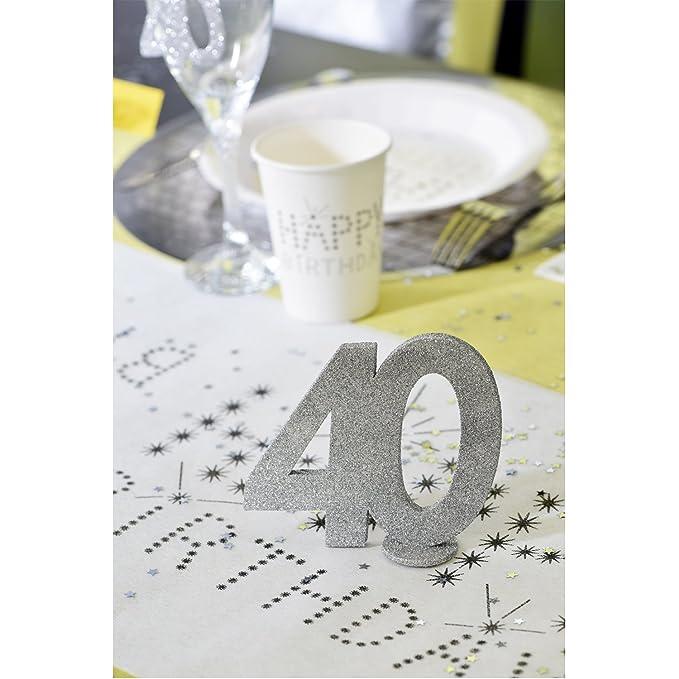 Xxl Tischdeko Zahl 70 Geburtstag Silber Glitzer 1 Stuck Party Deko
