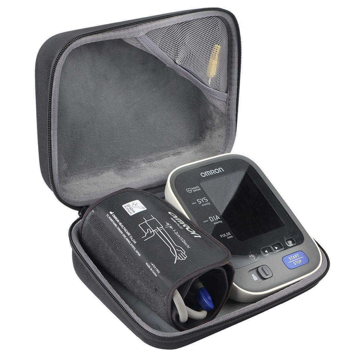 co2crea Hard Travel case for Omron 10 Series BP785N BP786 BP786N Upper Arm Blood Pressure Monitor Cuff