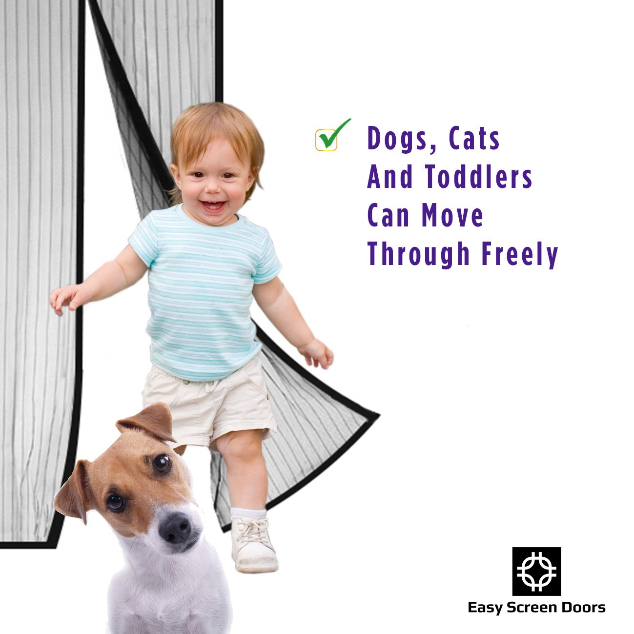 Magnetic screen door mesh curtain mosquito net keeps bugs out magnetic screen door mesh curtain mosquito net keeps bugs out lets cool breeze in premium quality toddler and pet friendly fits doors up to vtopaller Image collections