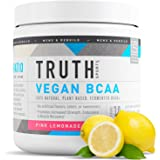 Truth Nutrition Fermented Vegan BCAA Powder- 2:1:1 Ratio All Natural Branched Chain Amino Acids for Energy, Muscle Building,