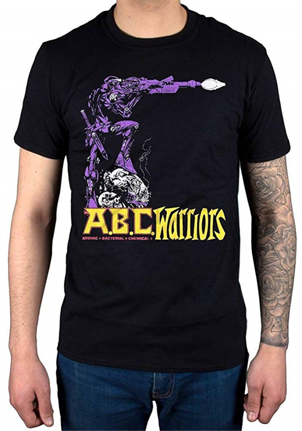 2000ad Abc Warriors Joe Pineapples T Shirt Black