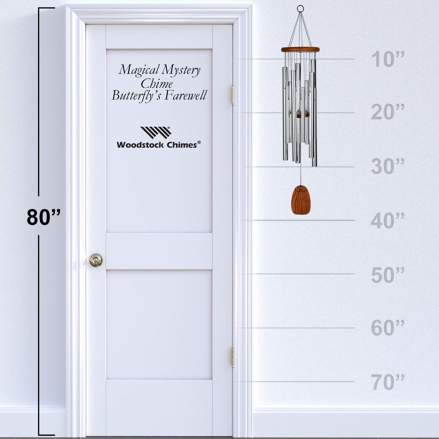 Woodstock Magical Mystery Butterflys Farewell Wind Chime