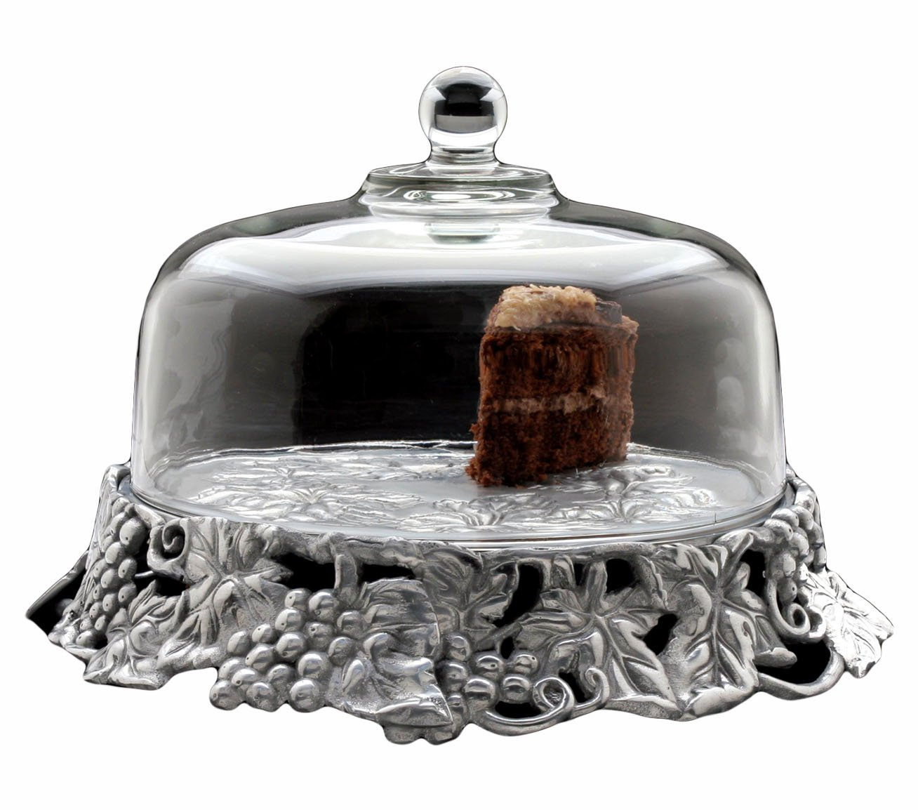 Arthur Court Grape 14-Inch Covered Cake Tray with Glass Dome by Arthur Court   B0015KESQ6
