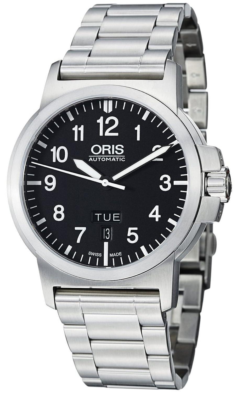 Oris bc3ブラックダイヤルステンレススチールMens Watch 735 – 7641 – 4164 MB B008UCCO04