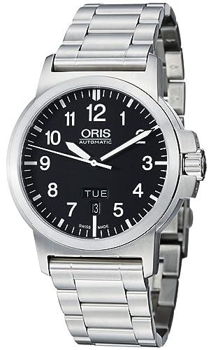 Oris pines Negro Dial Acero inoxidable reloj para hombre 735 - 7641 - 4164 MB: Oris: Amazon.es: Relojes