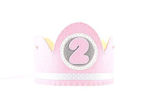 Corona cumpleaños niña rosa: Amazon.es: Handmade
