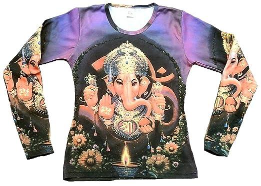 TICILA Mujer Camiseta de Manga Larga Lila Popular Hindu Deity God ...