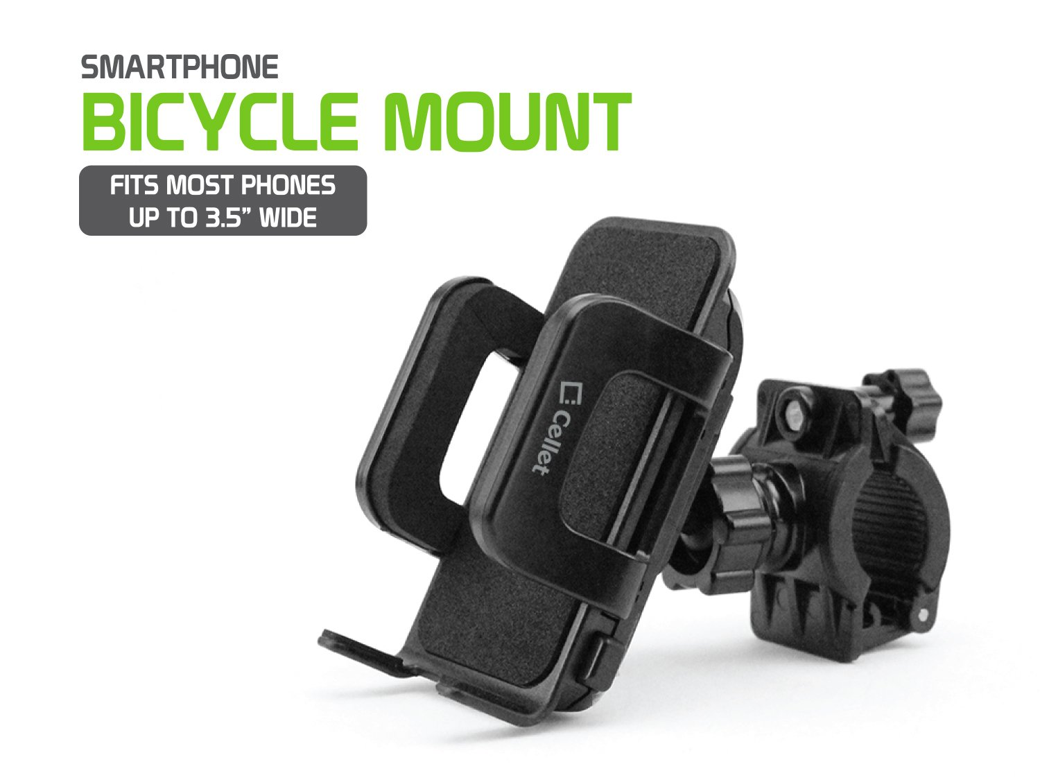 Smartphone Bicycle and Motorcycle Mount by Cellet PHM400 and Many More Fits Most Phones Up to 3.5 Inches Wide Including iPhone X//8//8 Plus Galaxy S8//S8 Plus 7//7 Plus 5//5s//5c S7 // S7 Edge Note 8