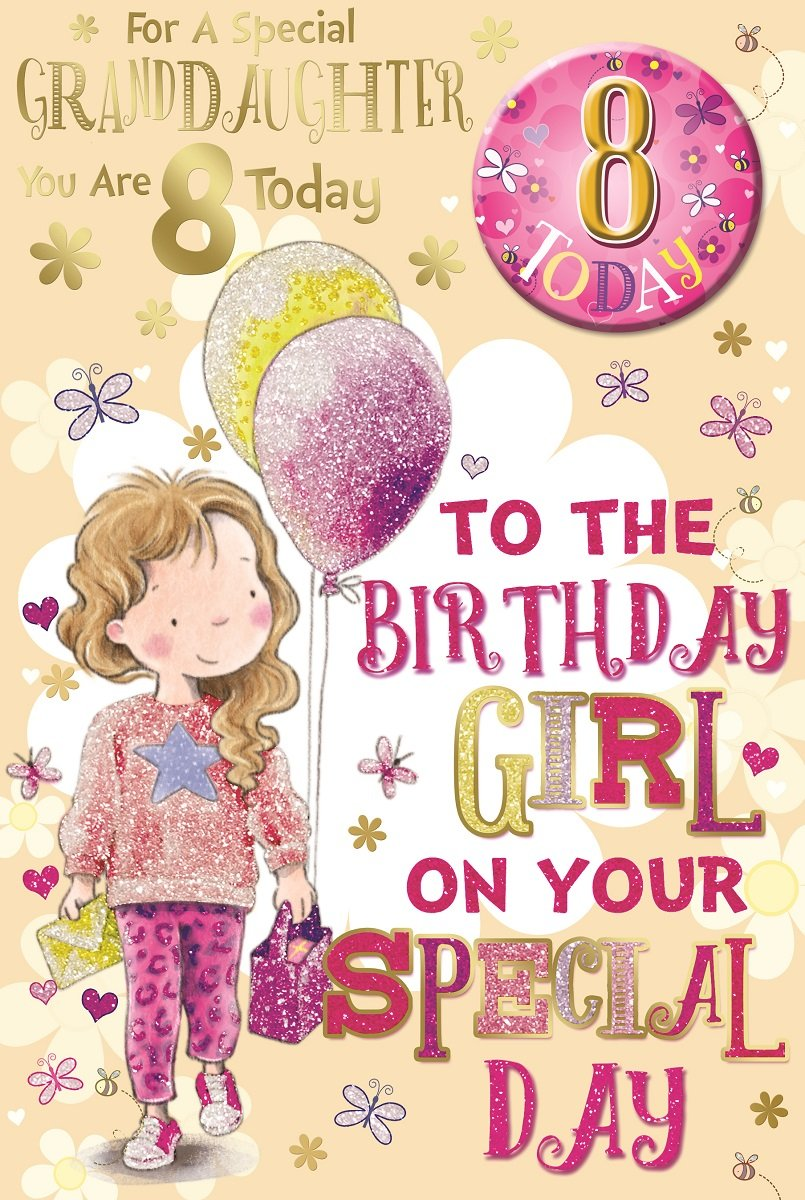 7 x cards to choose from! girls cute 8th birthday card you/'re 8 today