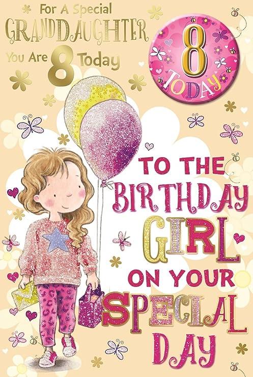 Cards Galore Online Nieta 8th cumpleaños tarjeta y placa - 8 ...