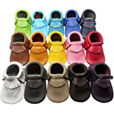 Happy Kids Baby Tassel Shoes Soft Leather Sole Infant Shoes Baby Moccasins Crib Shoes